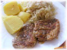 Salát z kysaného zelí skvělá příloha obloha nejen k masu Mashed Potatoes, Steak, Ethnic Recipes, Food, Whipped Potatoes, Smash Potatoes, Eten, Steaks, Meals