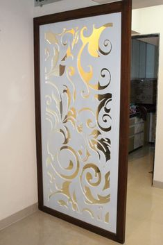 Mdf partition: asian by vue design,asian Wooden Partition Design, Glass Partition Designs, Living Room Partition Design, Pooja Room Door Design, Partition Ideas, Kitchen Room Design, Home Room Design, Living Room Designs, Modern Home Interior Design