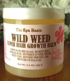 Wild Weed Super Hair Growth Formula /Soften and Moisturize Dry, Frizzy, Hard to Manage Hair/Anti-Breakage Formula/Silky Soft Hair/6.5 Oz/180 G by The Spa Basin. $20.00. Soften and tame dry, frizzy, unruly, hard to manage hair.. Restore moisture PH balance to hair shaft.. Strengthen weak, damage, over process hair.. Encourage strong, healthy, pliable hair growth.. Stops hair breakage,rescues dry, damage,over process hair. Restore lusture and strength, Mends split ends and restor...