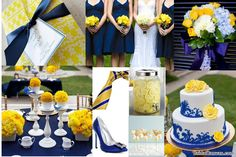@Cathy Ma Ma Lippert Starting to gather ideas for my bride to be! Cobalt and Lemon