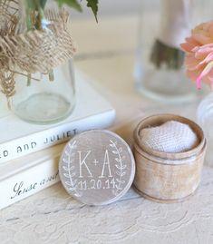 Personalized Rustic Ring Bearer Pillow Box Shabby Chic Wedding Decor Custom by Morgann Hill Designs #MorgannHillDesigns #BraggingBags