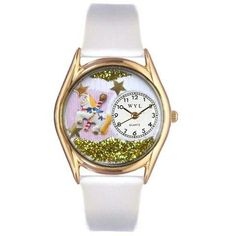 Whimsical Womens Carousel Lavender Leather Watch
