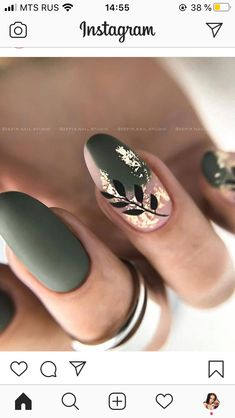 Natural Nail Designs, Pretty Nail Designs, Best Nail Art Designs, Fall Nail Designs, Subtle Nail Art, Nails Today, Modern Nails, Luxury Nails, Oval Nails