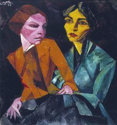 """""""Duas Amigas"""" , de Lasar Segall - Coleção da Fundação Edson Queiroz/divulgação"""