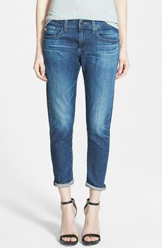 AG 'Nikki' Relaxed Skinny Jeans (4 Year Tide) available at #Nordstrom