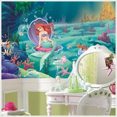 Little Mermaid wall mural!