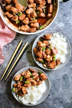 This Paleo Kung Pao Chicken is sticky, spicy, sweet and a healthier alternative to takeout! It comes together in a few very simple steps. Let's have a quick, honest conversation about Chinese takeout…More Healthy Living Recipes, Paleo Recipes, Cooking Recipes, Paleo Meals, What's Cooking, Fed And Fit, Spicy Sauce, Paleo Dinner, Dinner Recipes