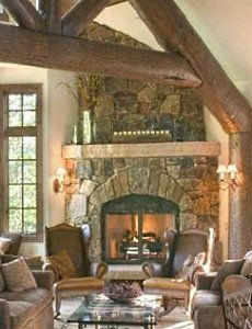 pictures of corner stone fireplaces   Corner Stone Fireplace Designs . . . Cornering The Market!