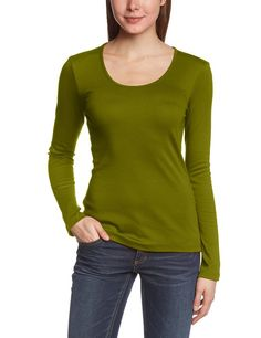 LANA natural wear Damen Langarmshirt X-Shirt Anna 1/1: Amazon.de: Bekleidung peridot für 32 EUR
