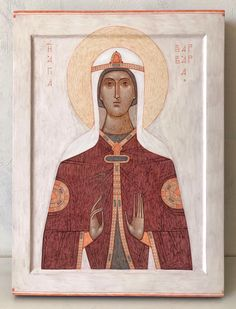 Saint Barbara, Saint A, Byzantine Icons, Princess Zelda, Disney Princess, Roman, Disney Characters, Fictional Characters, Aurora Sleeping Beauty