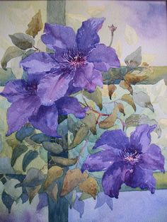 Shelley Waring watercolor from Margaret Brown.