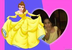 fotomontaje decollage-princesas-bella-bestia-vestido-dorado 3227