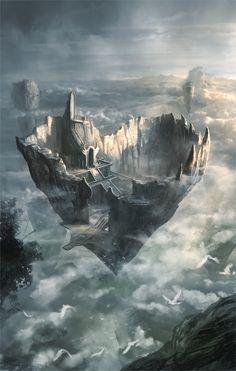 Scenes and Landscapes - Fantasy Art Fantasy City, Fantasy Places, Sci Fi Fantasy, Fantasy World, Fantasy Fiction, Fantasy Concept Art, Fantasy Artwork, Creation Art, Fantasy Setting