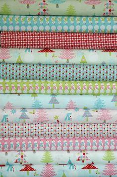 """""""Christmas Basics ALL"""" - Christmas Fabric Bundle by Riley Blake £39 @ www.elephantinmyhandbag.com #rileyblakedesigns #christmas #fabric"""