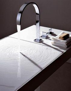 Moderne Waschbecken außergewöhnliche designer waschbecken glassworks wasserfall effekt