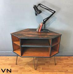G Plan Teak Retro Corner TV Stand Entertainment Cabinet - upcycled