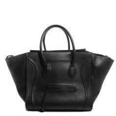Fashionphile - CELINE Supple Calfskin Small Phantom Luggage Black
