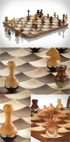 шахматы Wobble Chess Set by Umbra Product Design