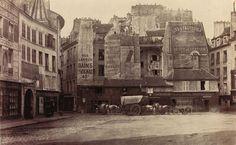 Lost Paris: Documenting the disappearance of a Medieval City - Place Saint-André-des-Arts (pre-Haussmann) - MessyNessyChic Old Paris, Paris Art, Vintage Paris, Best Vacation Destinations, Best Vacations, Old Pictures, Old Photos, Rue Montorgueil, City Photography