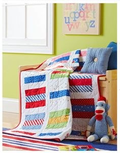 Modern Quilt Relish - there is a link to free pdf pattern with this quilt but in a different colour way