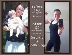 insanity and shakeology before and after pictures.