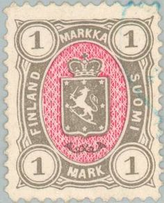 Issued in Suomi - Coat of arms type Finland Vintage Stamps, Vintage Labels, Walk Around The World, Passport Stamps, France, Stamp Collecting, Coat Of Arms, Colours, History