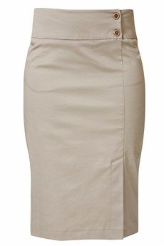 RAXEVSKY ELECTRA Beige Pencil Skirt - CLOTHING   SKIRTS   PRET-A-BEAUTE.COM