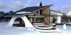 Luxury Villa Inspired From Macedonia – Amazing Architecture Magazine House Plans With Pictures, House Design Pictures, Modern Small House Design, Bungalow House Design, House Outside Design, House Front Design, Modern Bungalow House, Modern House Plans, Architecture Magazines