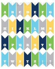 Free printable pennant banner download- the perfect size to make cake toppers, and all the letters are included. Two different color schemes.