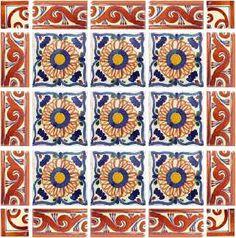 Mexican Tile - Ola Terra Cotta Mexican Tile