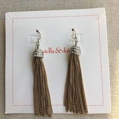 """I just added this to my closet on Poshmark: Shelby Fringe Earrings. Price: $24 Size: 2"""" drop length"""