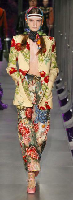 Gucci Outono Inverno 2017/18 MFW - Estampa Pátio - Floral