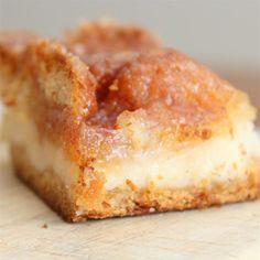 Sopapilla Cheesecake Pie | Butter, cream cheese, crescent rolls, vanilla, cinnamon...you can't go wrong.