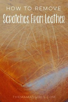 How To Get Scratches Out Of Leather!!#Decor#Trusper#Tip