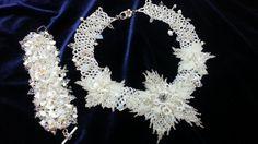 """Колье """"Свадебные цветы"""". ЧАСТЬ 2.Necklace """"Wedding Flowers"""". PART 2"""