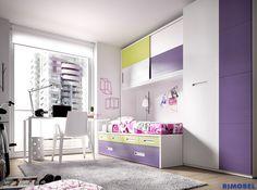 H122  #Habitacionesjuveniles con camas compactas que aportan carácter y originalidad. Su atractiva combinación de colores vivos y neutros marcan la pauta y se adaptan a la personalidad de los niños y jóvenes.