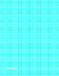 This letter-sized graph paper has one aqua blue line every millimeter, plus index lines every centimeter. Free to download and print