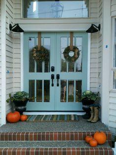 """""""Wythe Blue"""" ~ Benjamin Moore ... this will be My new Front Door & Garage Door color :D"""