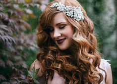 2014 Wedding Trends | Hair Embellishments | 1920s inspiration + berry colored lip