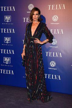 Nieves Álvarez, muy elegante con un vestido de Blumarine.