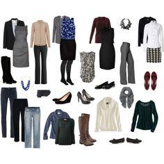 Capsule wardrobe- work and play