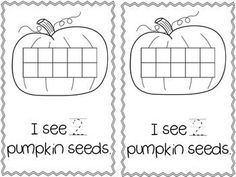 Freebie! My Pumpkin Seed: A Counting Story