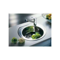 CHIUVETA DE BUCATARIE BLANCO RONDOVAL C 3 1/2 FINISAJ INOX, MONTAJ CLASICA PE BLAT CU MARGINE SI PROFIL CONVENTIONAL DIN INOX - Iak Sink, Kitchen, Home Decor, White People, Sink Tops, Baking Center, Vessel Sink, Cooking, Sinks