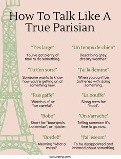 Français: How To Talk Like A True Parisian