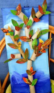 stromy rulicky1 Cute Kids Crafts, Diy Crafts To Do, Diy Craft Projects, Paper Crafts, Fall Preschool Activities, Preschool Art, Autumn Crafts, Autumn Art, Autumn Trees
