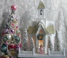 vintage putz christmas
