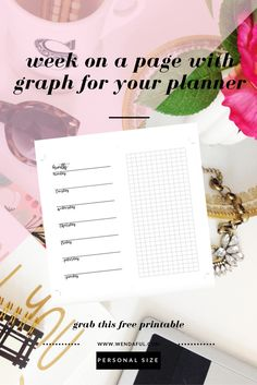 Daily Checklists  Week On One Page Planner Inserts  Daily