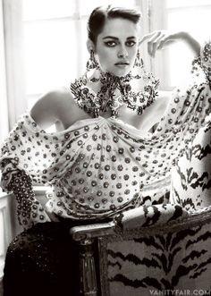 Kristen Stewart Vanity Fair.  Those chandelearings though!