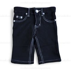 Mini Shatsu Black Franco French Terry Pants