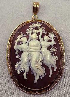Cameo depicting the three Muses